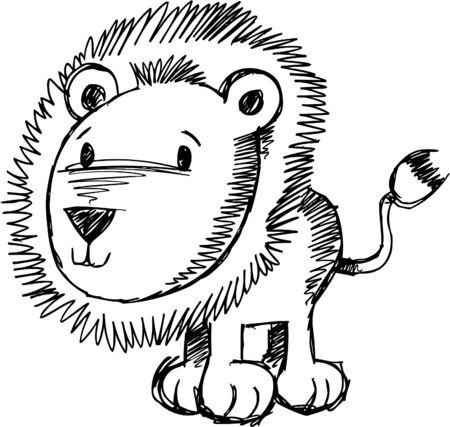 plains: Doodle Sketchy Lion