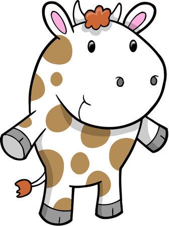 Cow  Illustration Stock Vector - 6774803