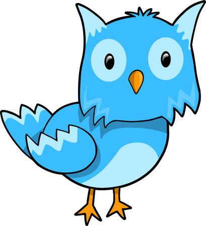 Blue Owl Stock Vector - 6774808