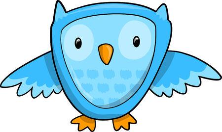 owl illustration: Blue Owl
