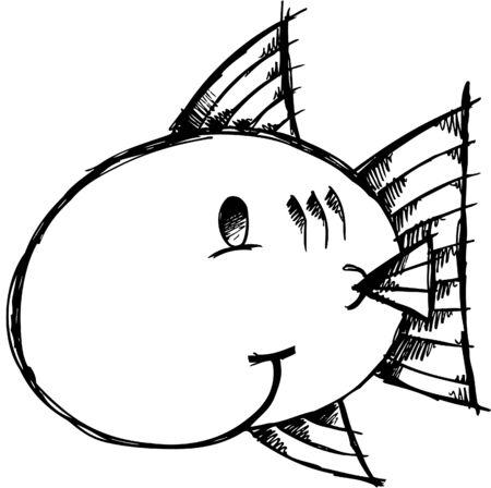 Doodle Sketchy fish Stock Vector - 6774810