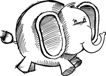 Sketchy Doodle Elephant