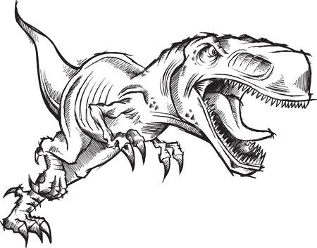 dinosaur: Tyrannosaurus Dinosaur Sketch Doodle