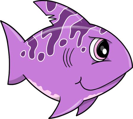 Mean Purple Shark Stock Vector - 6774860