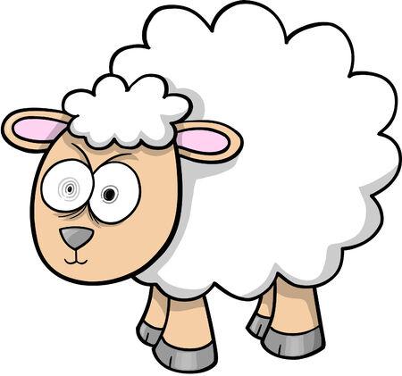 Crazy Sheep Lamb Imagens - 6774856