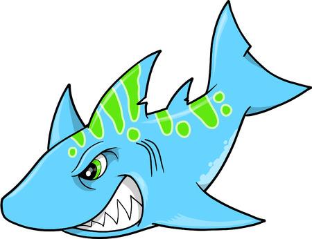 Blue Shark Illustration