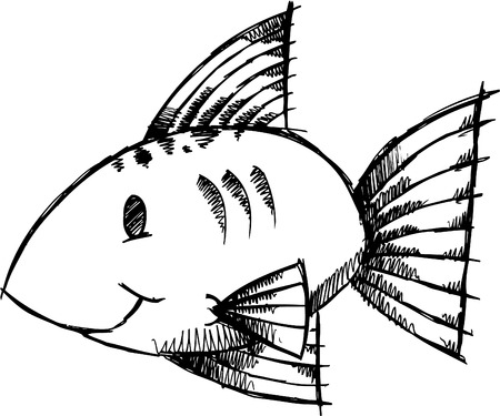 Doodle Sketchy fish  Illustration Stock Vector - 6784495