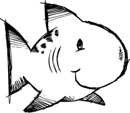 Doodle Sketchy fish  Stock Vector - 6784498