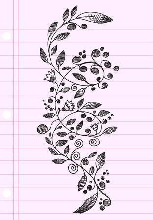Sketch henna Doodle   Illustration Flower Ilustrace