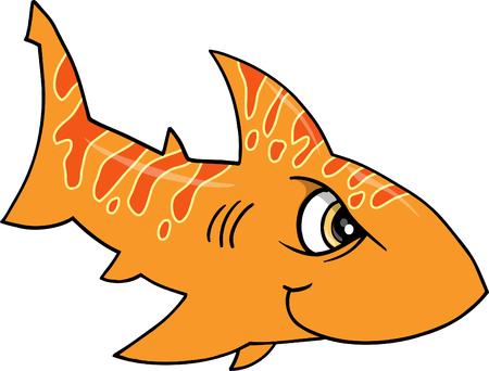 Mean Orange Shark illustration