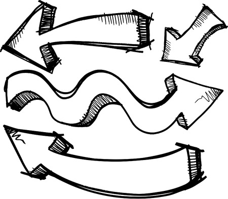 Sketchy Doodle Arrows  Illustration Stock Illustratie