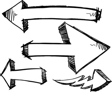 Sketchy Doodle Arrows  Illustration Illusztráció