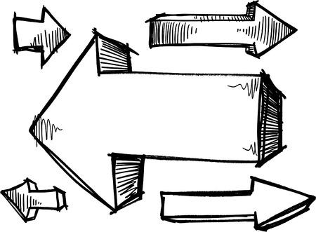 Sketchy Doodle Arrows Illustration