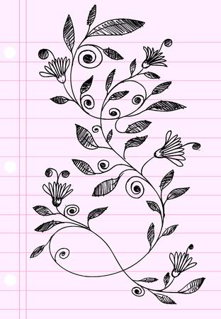 Sketch henna Doodle Illustration Flower