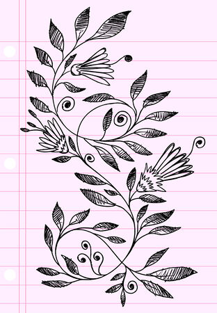 sketch: Sketch henna Doodle  Illustration Flower