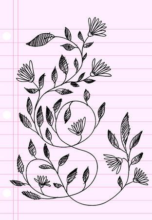 Sketch henna Doodle Illustration Flower Vector