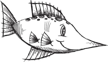 Fish Sketch doodle Stock Vector - 6841553