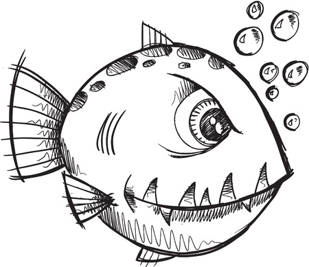 Fish Sketch doodle Stock Vector - 6841549