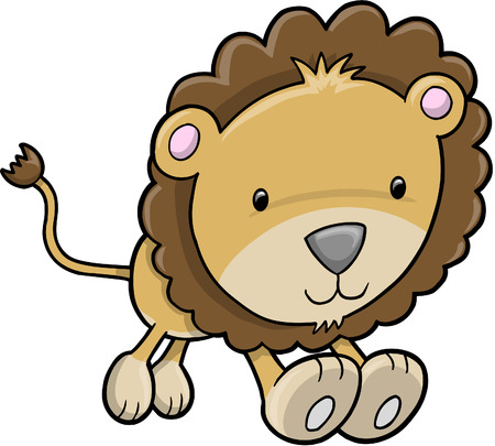 Cute Safari Lion  Illustration Stock Vector - 6847552
