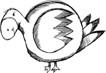 Sketchy Duck Illustration Zdjęcie Seryjne - 6847557