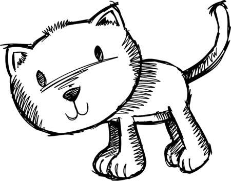 with illustration: Sketchy Cat  Illustration