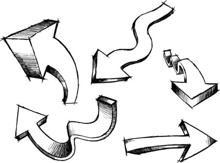 Sketchy Arrows Illustration