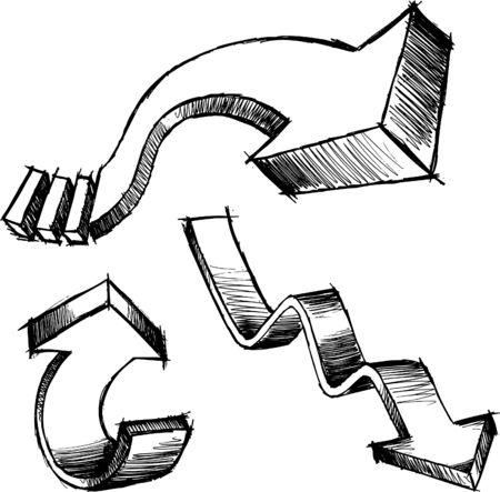 Sketchy Arrows  Illustration Ilustrace