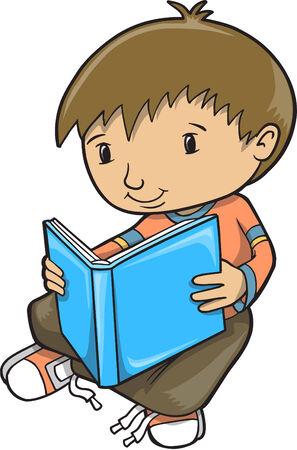 Boy Reading  Illustration Zdjęcie Seryjne - 6847554