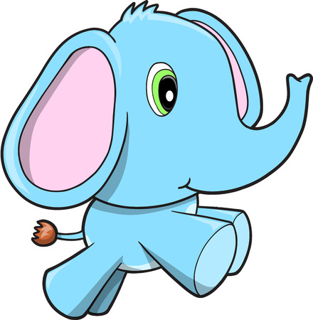 running: Blue Elephant  Illustration