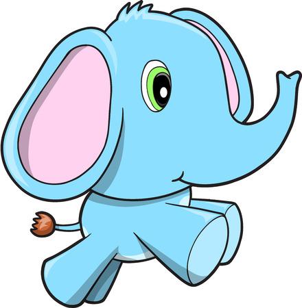 Léphant bleu  Banque d'images - 6847543