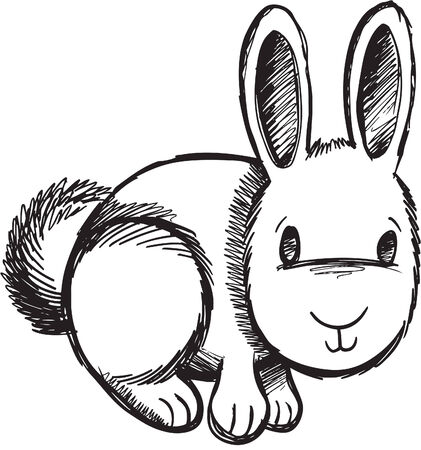bunny rabbit: Sketchy Bunny Rabbit ilustraci�n