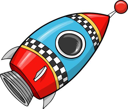 cohetes: Ilustraci�n de Rocket cute