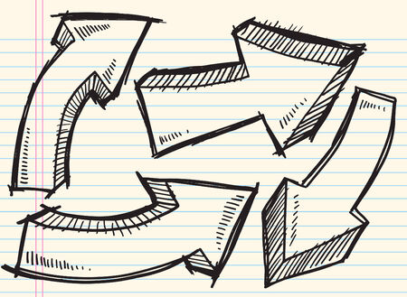Doodle Sketch Arrow Set  Illustration Illustration