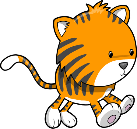 Safari Tiger  Illustration Vector