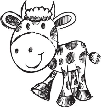 Illustration de vache sommaires Banque d'images - 6883630