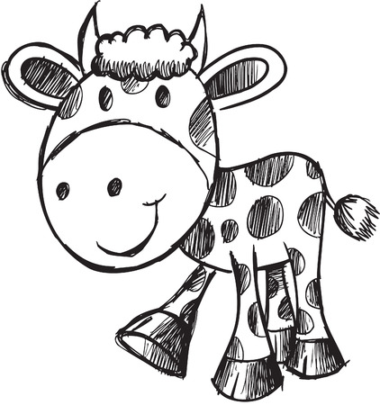 Sketchy Cow Illustration