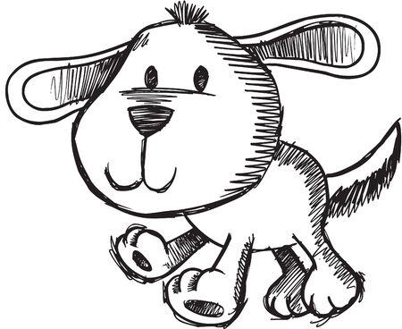 Sketchy Dog  Illustration