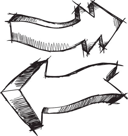Sketchy Arrows  Illustration Ilustracja