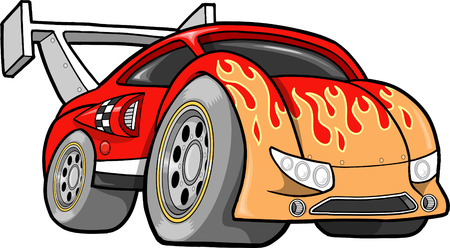 Hot-Rod Race-Car Illustration Illustration