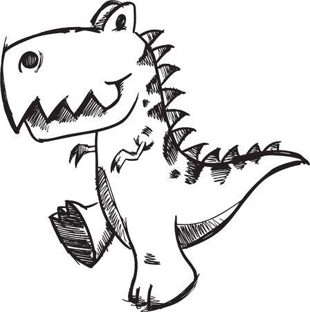 Sketchy doodle Dinosaur Illustration Stock Vector - 6883703