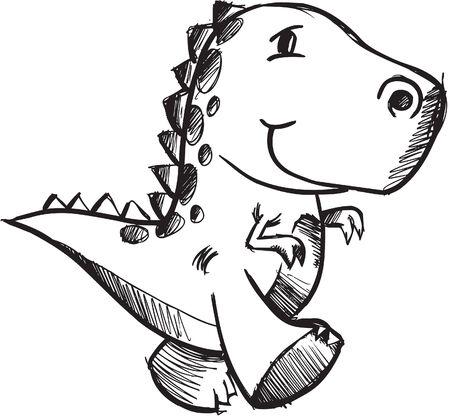 sketchy: Sketchy doodle Dinosaur Illustration