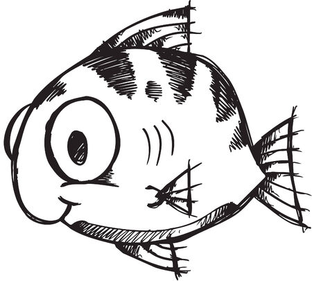 Sketchy doodle fish Illustration Stock Vector - 6883659