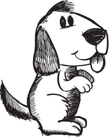 Sketchy doodle Dog Illustration Illustration