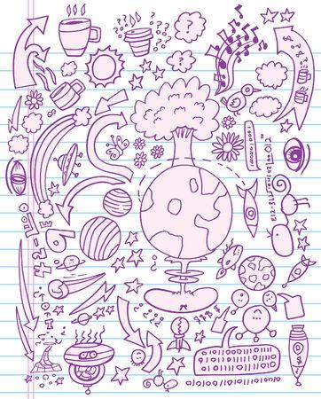 Doodle schets illustratie