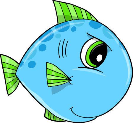 tough: Mean Tough Fish  Illustration  Illustration