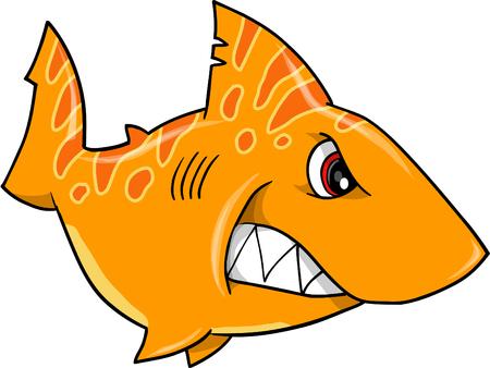 tough: Mean Tough Shark Illustration