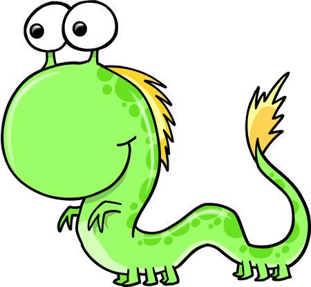 Monster Alien Illustration  Stock Vector - 6968428