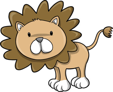 plains: Cute Safari Lion  Illustration