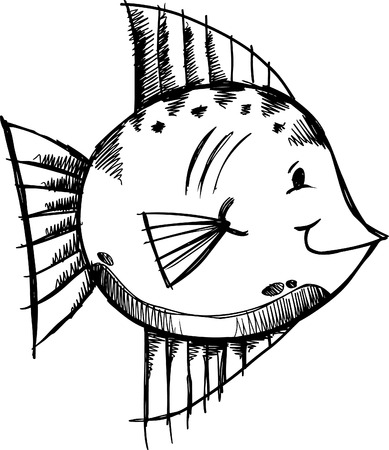 Doodle Sketchy fish  Illustration  Stock Vector - 7167219