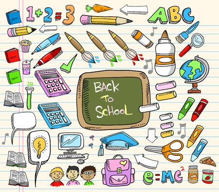 Back to School Doodle Education Illustration Set  Stock Vector - 7261097